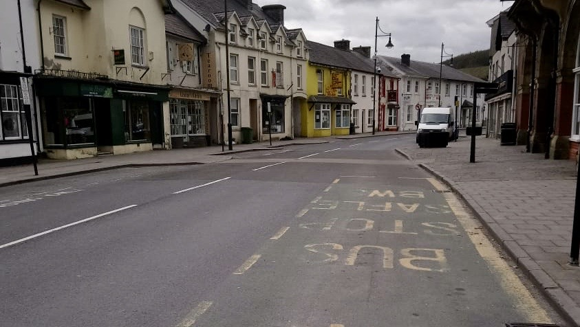 EMPTY LAMPETER - nobody to be seen